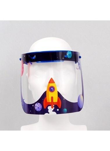 Artikel Uzay Çocuk Yüz Koruyucu Siperlik Maske Renkli